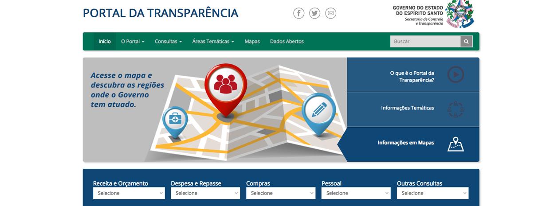 f0c461b135 Portal da Transparência do governo do Espírito Santo (Foto  Reprodução   Transparência ES)