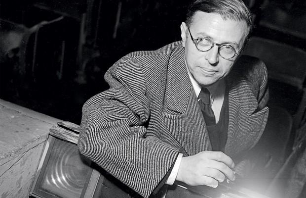 VITÓRIA PARCIAL O filósofo Jean Paul Sartre. No ambiente politicamente carregado dos anos 1950, ele se saiu vencedor (Foto: Boris Lipnitzki/AFP)