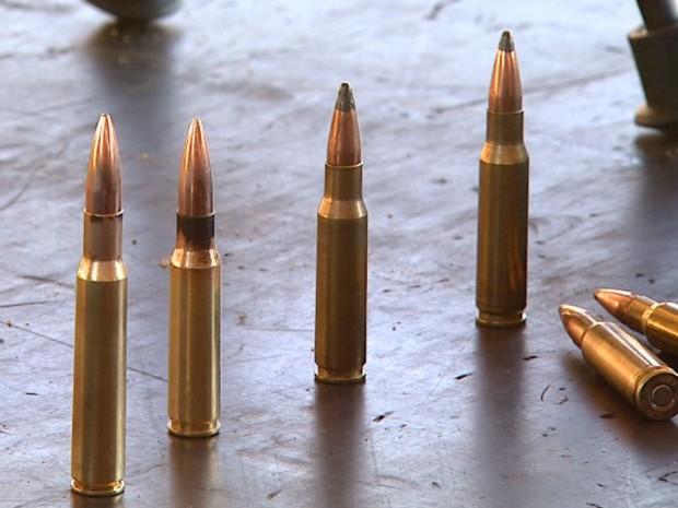 Munição de metralhadora ponto 50 (Foto: Reprodução/EPTV)