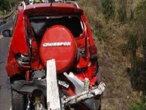 Apenas uma pessoa ficou ferida no acidente (Foto: blogdorodrigoferraz)