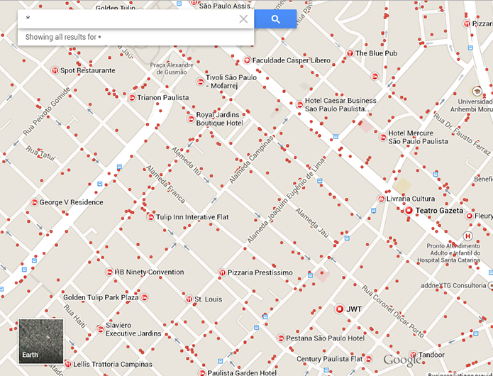 Basta digitar um asterisco no campo de buscas para ver recomendações de lugares no Maps (Foto: Reprodução/Paulo Alves) (Foto: Basta digitar um asterisco no campo de buscas para ver recomendações de lugares no Maps (Foto: Reprodução/Paulo Alves))