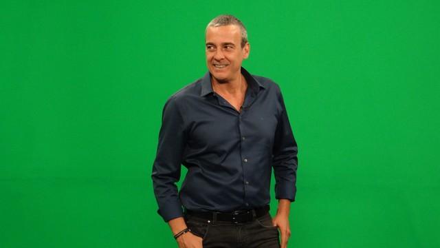 Alexandre Borges grava campanha pra TV Tribuna (Foto: Eder Pin)