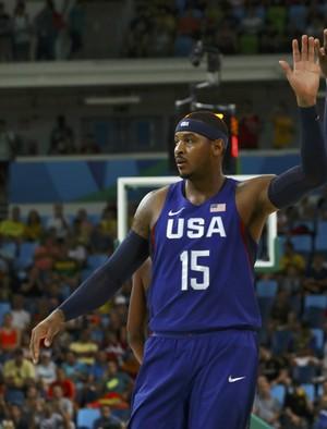 Espanha x Estados Unidos basquete masculino Irving Carmelo Anthony (Foto: Reuters)