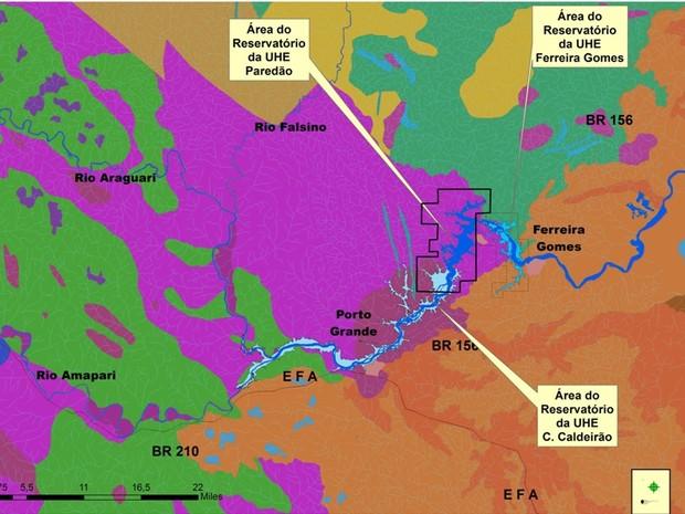 Hidrelétricas criaram lagos na nascente do Araguari (Foto: Divulgação/Amazon Global)