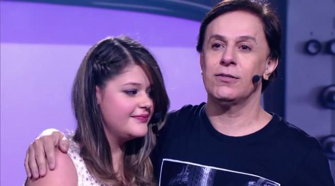 Tom Cavalcante chora (Foto: TV Globo)
