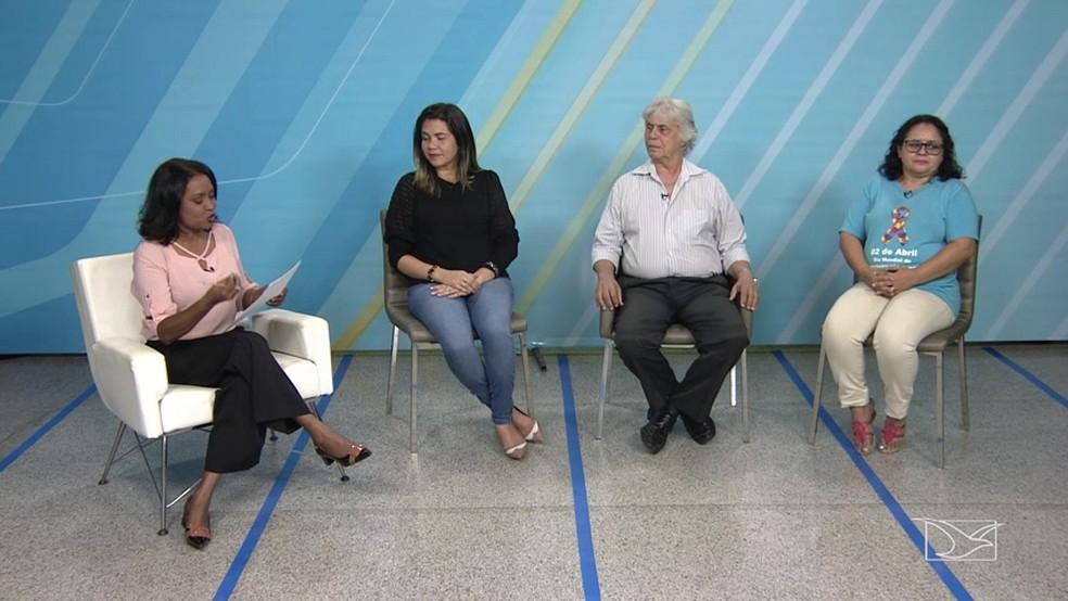 Repórter Regina Sousa comanda debate sobre autismo no JMTV 1ª edição (Foto: Reprodução TV Mirante)