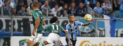 Grêmio derrota o Palmeiras por 2 a 1, em Porto Alegre, pela Copa do Brasil (Lucas Uebel / Grêmio, DVG)
