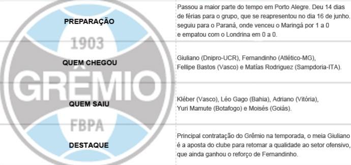 Pacotão dos Clubes - Grêmio (Foto: Editoria de Arte)
