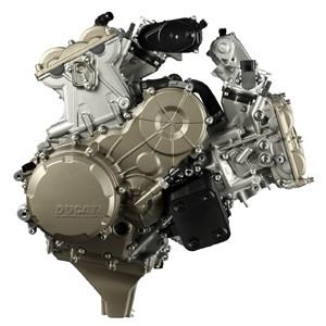 Novo motor Superquadro da Ducati alcança 195 cv de potência máxima (Foto: Divulgação)