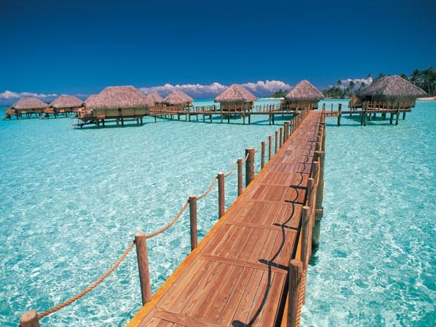 O Pearl Beach Resort, em Bora Bora (Foto: Tahiti Tourism/Divulgação)