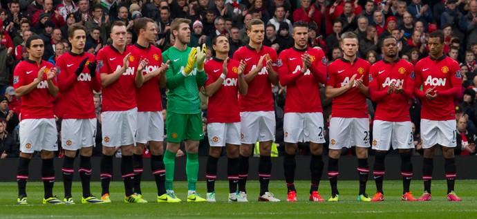 mandela homenagem manchester united x newcastle (Foto: AP)