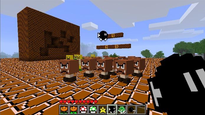 Super Mario Bros. inspirou vários mods divertidos para Minecraft (Foto: Minecraft Forum)