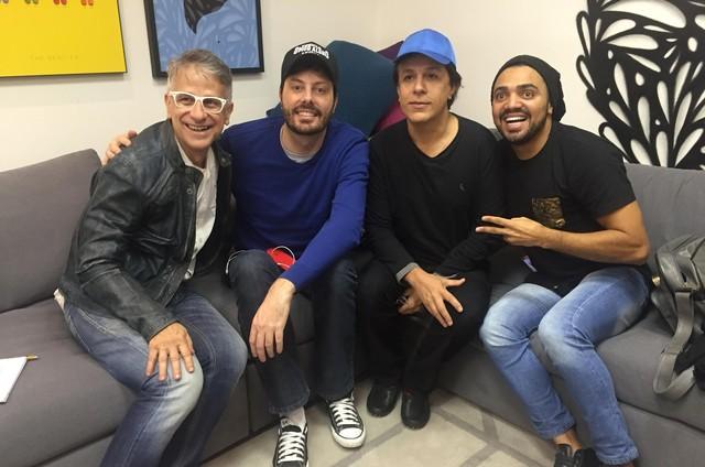 Claudio Torres Gonzaga, Danilo Gentili, Tom Cavalcante e Tirulipa (Foto: Arquivo pessoal)