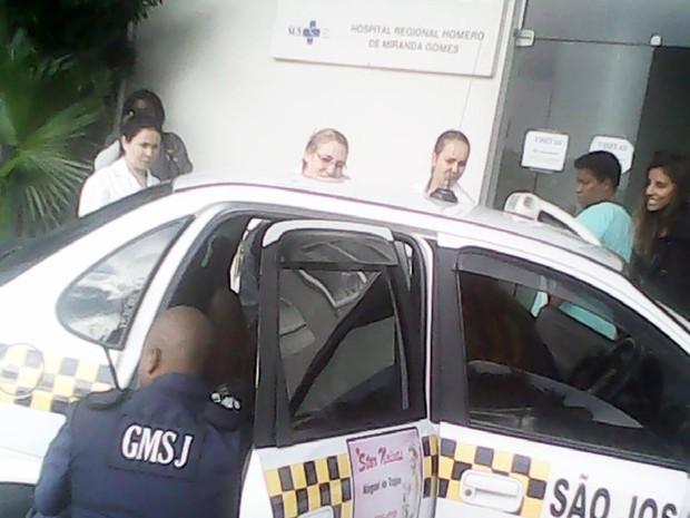 Bebê nasceu em um táxi em São José, na Grande Florianópolis (Foto: GMSJ/Divulgação)