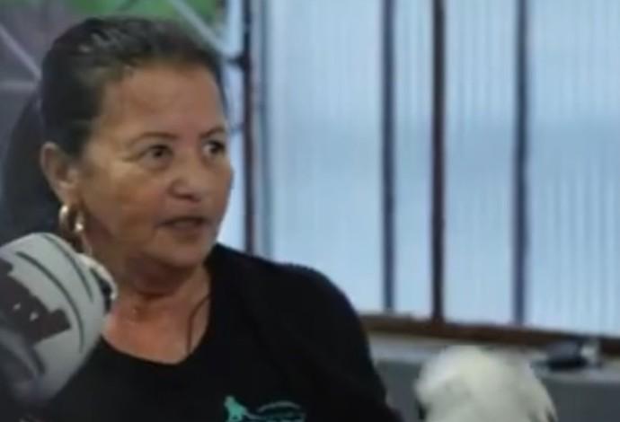 Maria Braço de Ferro Divinópolis queda de braço (Foto: Reprodução/TV Integração)