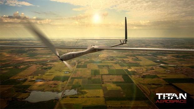 Drone da Titan Aerospace, fabricante de veículos aéreos não tripulados comprada pelo Google. (Foto: Divulgação/Titan Aerospace)