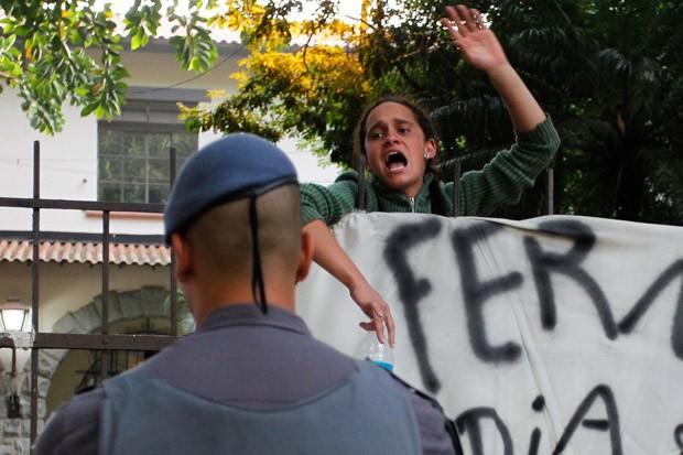 Escola Fernão Dias ocupada por alunos (Foto: Douglas Pingituro/Brazil Photo Press/Estadão Conteúdo)