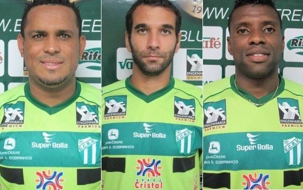 Val Baiano, Léo Medeiros e Diego Clementino, do Rio Verde (Foto: Hermom Dourado/E.C. Rio Verde)