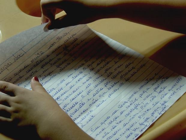 Carta revelou abuso sexual (Foto: Reprodução/TVTEM)