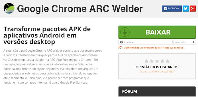 Instale a extensão no Google Chrome (Foto: Reprodução/Helito Bijora)