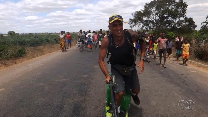 Marcelo Gervásio - skate (Foto: Reprodução / TV Anhanguera)
