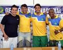 Ídolos do Fla se encontram em Natal para amistoso entre Brasil e Argentina