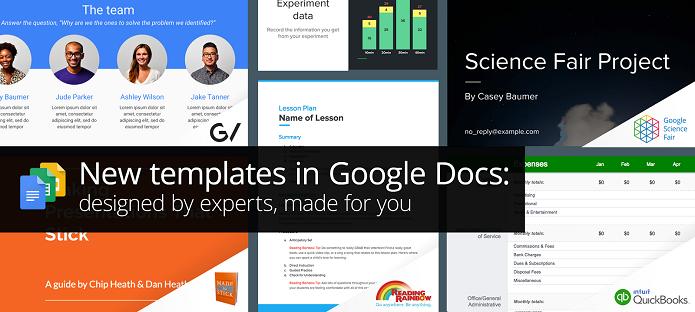 Google lançou novos templates para o Docs (Foto: Reprodução/Aline Jesus)