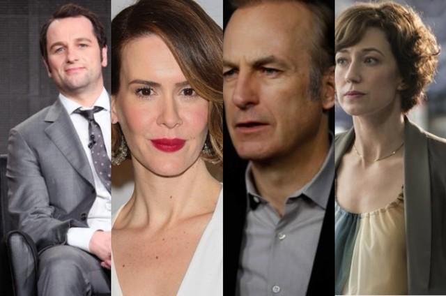 Matthew Rhys, Sarah Paulson, Bob Odenkirk e Carrie Coon (Foto:  AFP/Reuters e Divulgação)