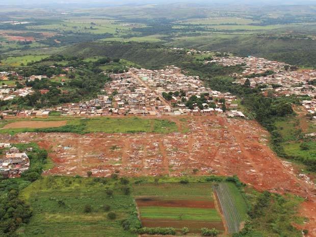 Áreas desocupadas recentemente pela Agefis no Setor Habitacional Sol Nascente (Foto: Agefis/Divulgação)
