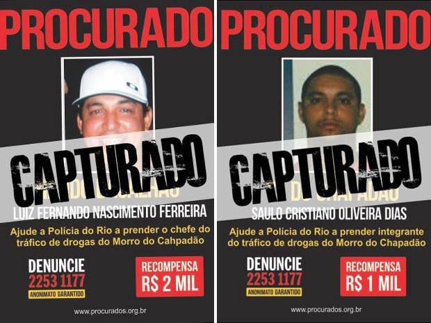 Nando Bacalhau e Saulo foram presos em apartamento na cidade de Guarulhos, na Grande São Paulo (Foto: Divulgação/ Disque Denúncia)