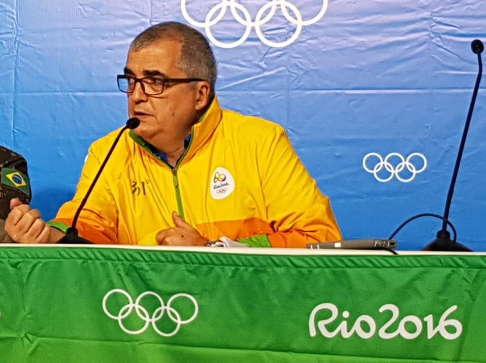 Mário Andrada durante a Rio 2016 (Foto: Danilo Sardinha)