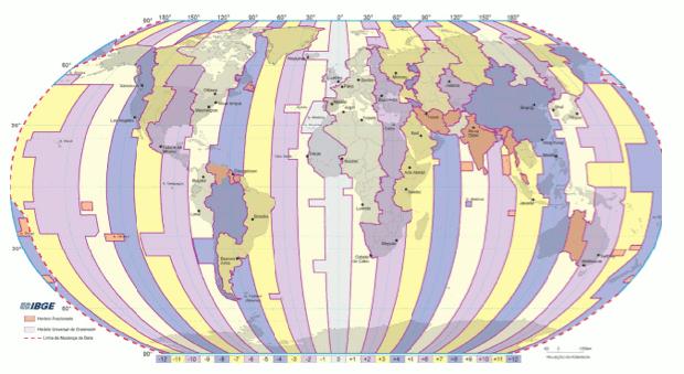 Divisão de acordo com a política nacional de territórios (Foto: Reprodução)