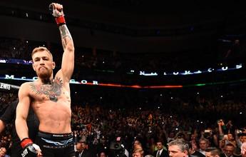 """McGregor propõe aposta milionária a Dana, que elogia irlandês: """"Fascinante"""""""