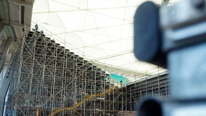 Arquibancada móvel da Arena Fonte Nova (Foto: Divulgação)