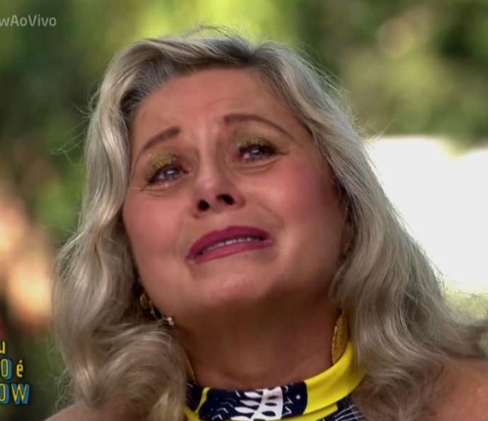 Vera Fischer se emociona ao rever abertura de novela (Foto: TV Globo)