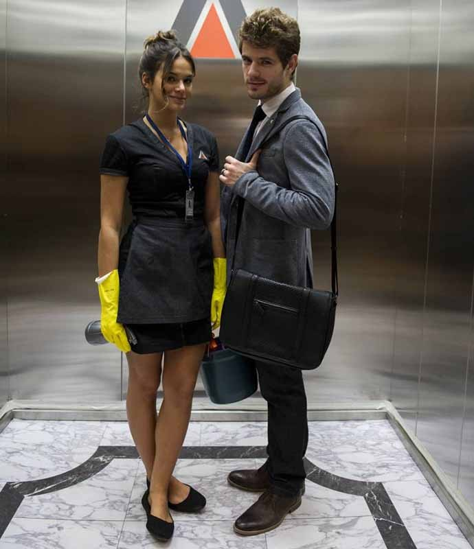 Quem não se lembra de quando Mari e Benjamin ficaram presos juntos no elevador? (Foto: Estevam Avellar/Globo)