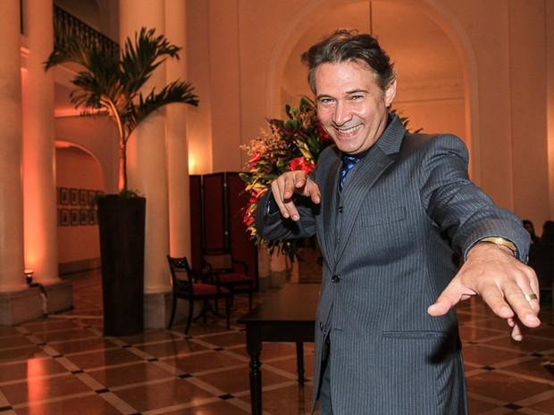 Nelson Freitas em evento na Zona Sul do Rio (Foto: Marcello Sá Barretto/ Ag. News)