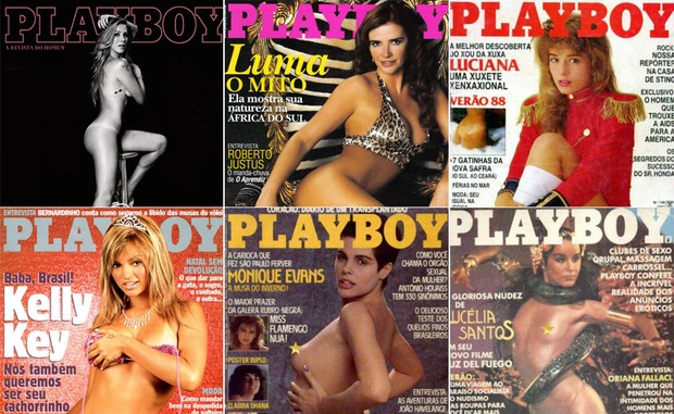 Luana Piovani, Luma de Oliveira, Luciana Vendramini, Kelly Key, Monique Evans e Lucélia Santos (Foto: Divulgação / Playboy)