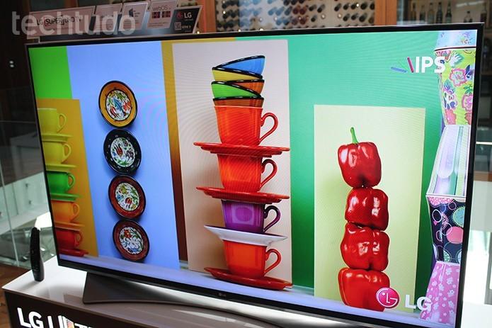LG lança modelos com resolução em 4K e tela LED (Foto: Leonardo Ávila/TechTudo)