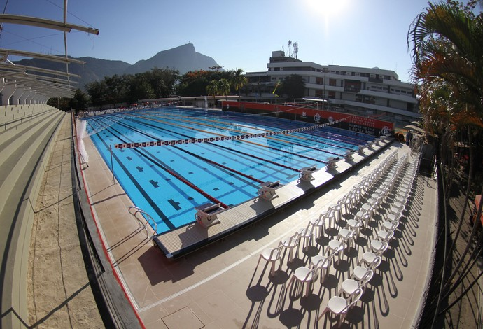 Nova piscina olímpica do Flamengo foi inaugurada na Gávea neste domingo (Foto: Divulgação/Flamengo)