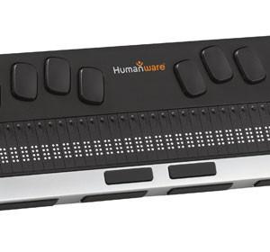 Aparelho da Linha Braille Brailliant traduz os caracteres de telas de computador, celula e tablets para o Braille. (Foto: Divulgação)