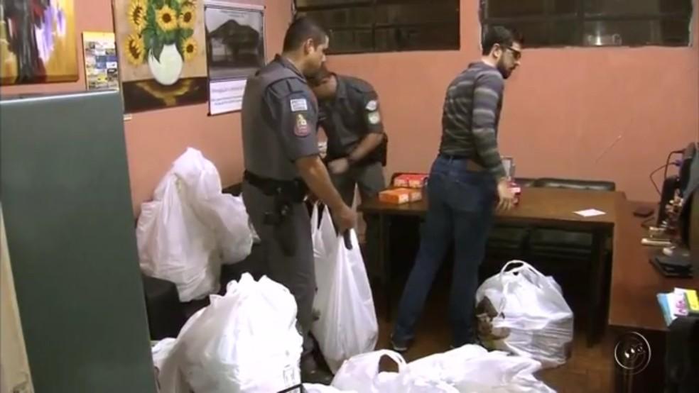 Assalto a loja de departamentos terminou em tiroteio em Pereira Barreto (Foto: Reprodução/TV Tem)