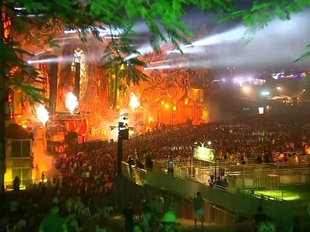 Tomorrowland acontece em Itu (Foto: Reprodução/TV TEM)