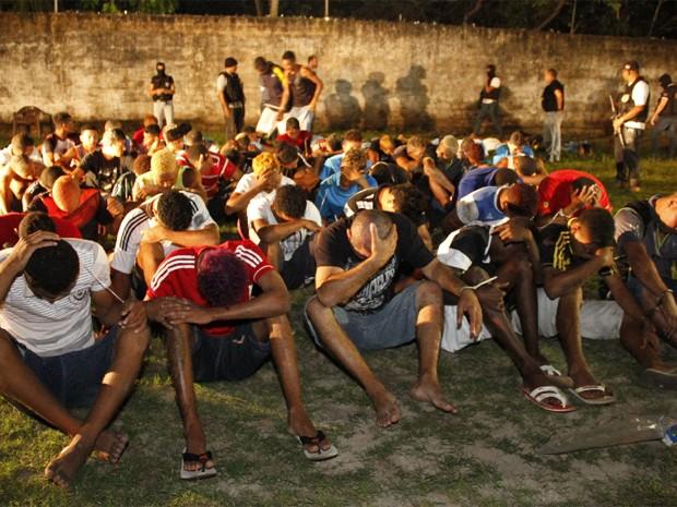 Cinquenta e sete suspeitos são detidos em festa no Maranhão
