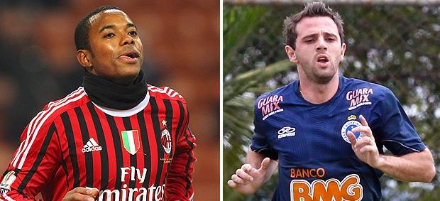 montagem Robinho e Montillo (Foto: Editoria de Arte / Globoesporte.com)