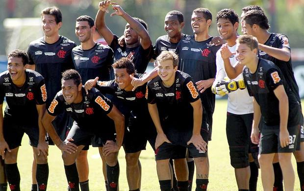 Flamengo equipe posada treino  (Foto: Maurício Val / Vipcomm)