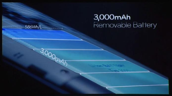 A bateria do LG G3 é de 3000 mAh (Foto: Reprodução/ LG)