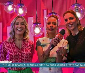 Claudia Leitte brinca sobre rivalidade com Ivete Sangalo (Foto: TV Globo)