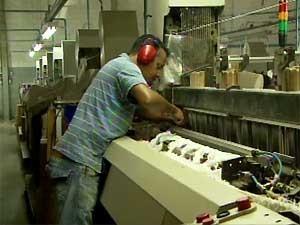 Indústria têxtil em Santa Bárbara d´Oeste (Foto: Reprodução EPTV)