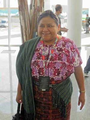 Ganhadora do Nobel da Paz de 1992, a guatemalteca Rigoberta Menchú vai participar do II Fórum Global de Sustentabilidade do SWU  (Foto: Dennis Barbosa/G1)